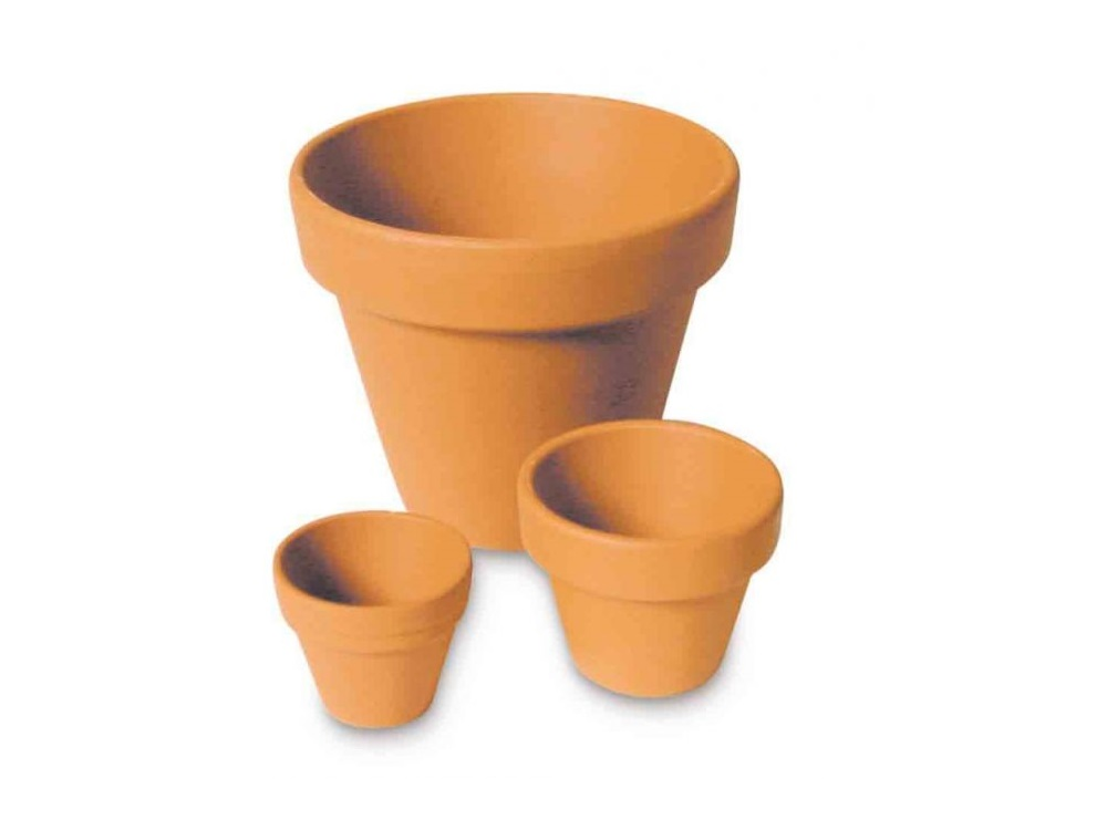Vasetto in terracotta diam. 4 cm